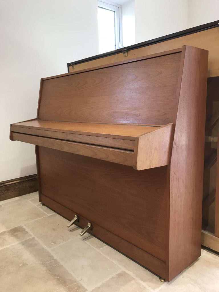 eavestaff,piano,teak,sale,dorset,upright