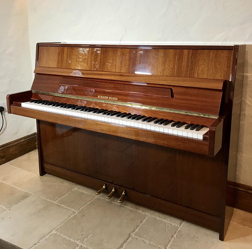 rieger,kloss,petrof,upright,piano,mahogany,sale,dorset,used