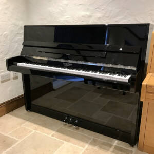 dale,forty,used,piano,black,high,gloss,modern,upright,dorset,sale
