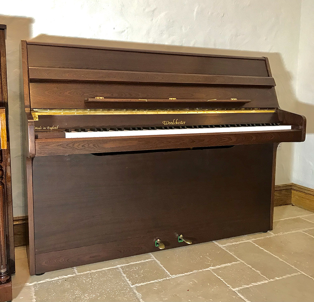 woodchester,upright,piano,walnut,modern,sale,dorset,used