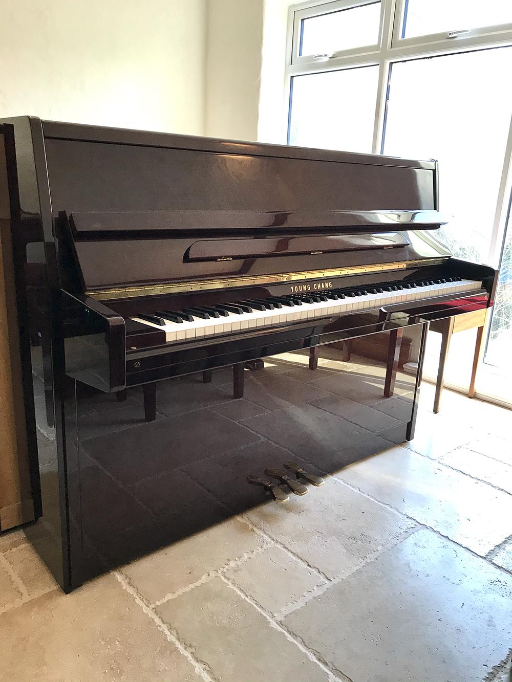 young,chang,piano,upright,used,quality,cheap,dorset,mahogany