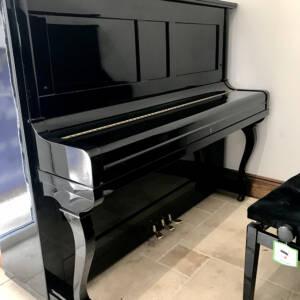 piano,apollo,black,high,gloss,traditional,sale,dorset,used,reconditioned,refurbished,panel,case